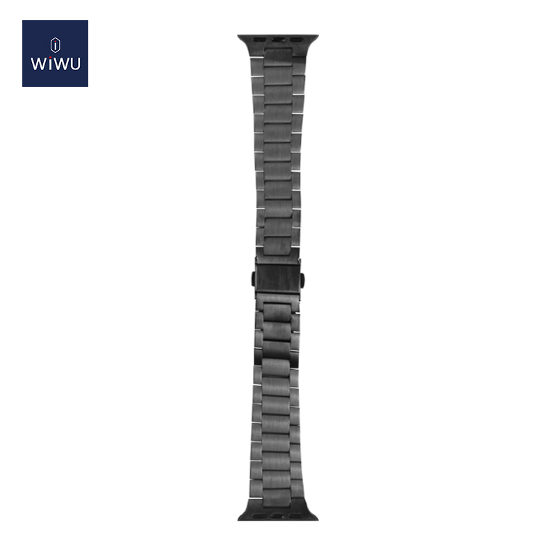 WiWU Durable ultra thin steel watch band three beads 38-44mm Replacement Wristband Quick Release Adjustable Watch Strap